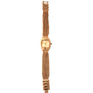 Olivia Pratt Women's Square Bezel Slinky Chains Watch One Size