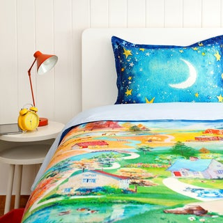 SpinTales Enchanted Interactive Twin 2-piece Duvet Cover Set