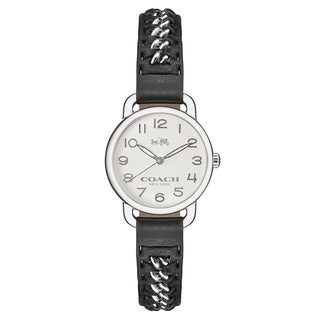 Coach Women's Delancey Stainless Steel White Japanese Swiss Quartz Watch