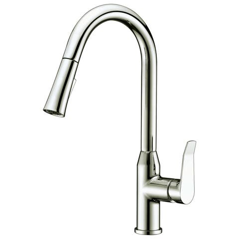 Dawn USA Brushed Nickel Single-lever Pull-down Spray Kitchen Faucet