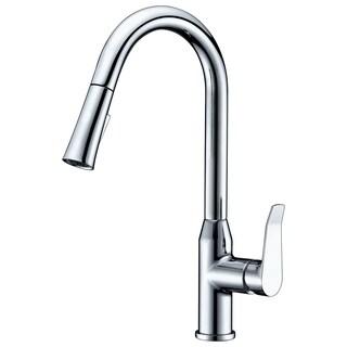 Dawn USA Chrome Single-lever Pull-down Spray Kitchen Faucet