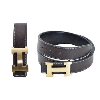 Men's Reversible Leather Belt With Removable Buckle (More options available)