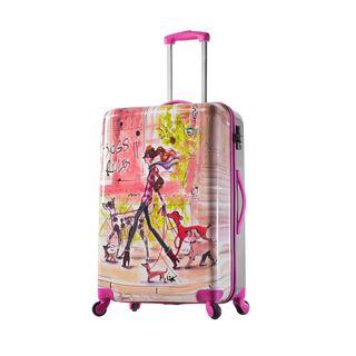 Mia Toro ITALY Izak-Stylish Traveller ITALY 27-inch Fashion Hardside Spinner Suitcase