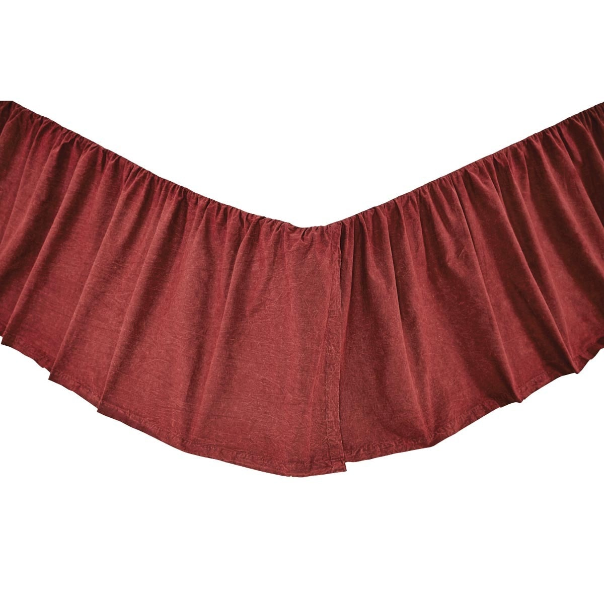 VHC Brands Cheyenne American Red Bed Skirt (Queen) (Cotto...