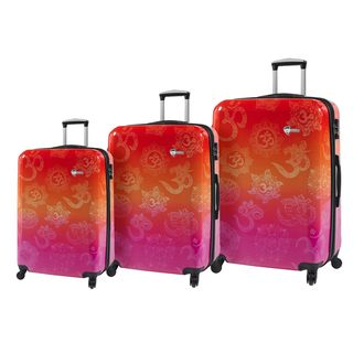 Mia Toro ITALY Love This Life OM 3-pice Hardside Spinner Luggage Set