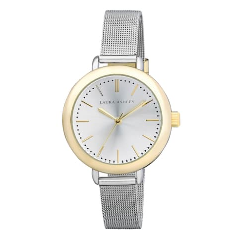 Laura Ashley Ladies Two Tone Mesh Watch - Silver/Gold
