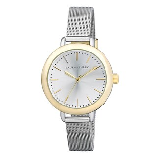 Laura Ashley Ladies Two Tone Mesh Watch