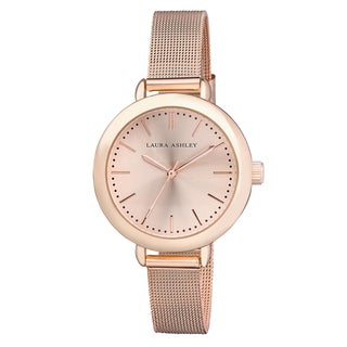Laura Ashley Rose Gold Mesh Watch