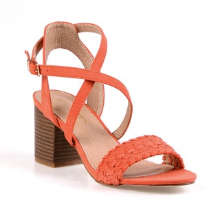 Mark and Maddux Colby-05 Criss-Cross Women's Heeled Sandals