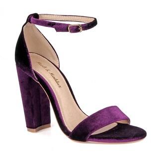 Mark and Maddux Hazel-01V Chunky Heel Women's High Heel Sandals
