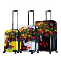 Mia Toro ITALY Prado Beautiful Minds 3-pice Hardside Spinner Luggage Set