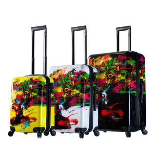 Mia Toro ITALY Prado Beautiful Minds 3-pice Hardside Spinner Luggage Set