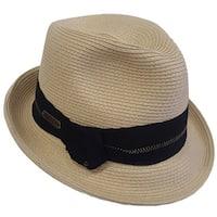 Hatch Zigzag Crushable Snap Brim Braided Paper Straw Fedora Hat