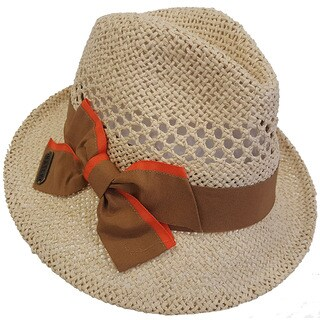 Hatch Bowtie Natural Toyo Paper Straw Safari Fedora Hat