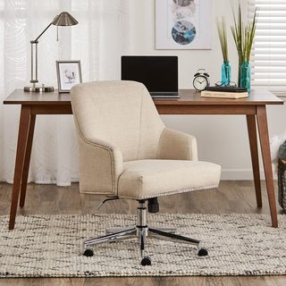 Serta Leighton Home Office Chair, Stoneware Beige