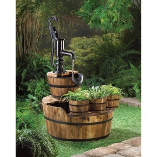 Oasis Tri-Bucket Wooden Water Fountain