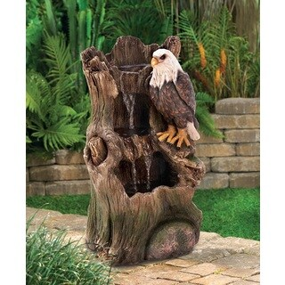 Charming Bird Tree-Trunk Water Fountain