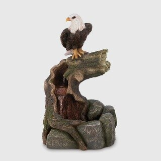 Charming Bird Rock-Based Water Fountain