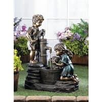 Precious Childern Antique-Style Water Fountain