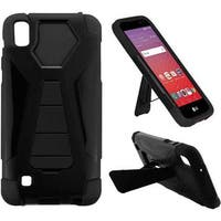 Insten Hard PC/ Silicone Dual Layer Hybrid Case Cover with Stand For LG K6P