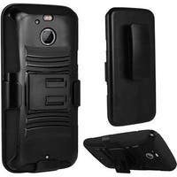 Insten Hard PC/ Silicone Dual Layer Hybrid Case Cover with Holster For HTC 10/ 10 EVO / Bolt