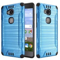 Insten Hard PC/ Silicone Dual Layer Hybrid Rubberized Matte Case Cover For Huawei Sensa LTE