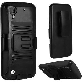 Insten Hard PC/ Silicone Dual Layer Hybrid Case Cover with Stand/ Holster For HTC Desire 530
