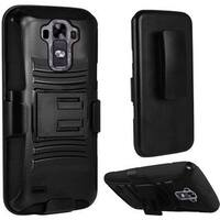 Insten Hard PC/ Silicone Dual Layer Hybrid Case Cover with Holster For LG G Vista 2