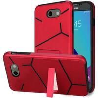 Insten Red Hard Snap-on Case For Samsung Galaxy Amp Prime 2/ Express Prime 2/ J3 (2017)/ J3 Eclipse/ J3 Emerge/ J3 Luna Pro