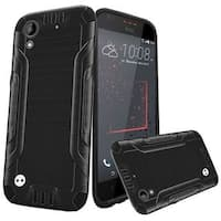 Insten Black Hard Snap-on Dual Layer Hybrid Case Cover For HTC Desire 530/ 550/ 555