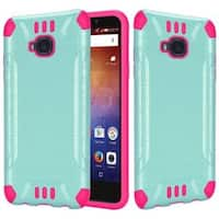 Insten Hard PC/ Silicone Dual Layer Hybrid Rubberized Matte Case Cover For Huawei Ascend XT