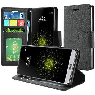 Insten Black Leatherette Case Cover with Stand/ Wallet Flap Pouch/ Photo Display For LG Grace 4G/ Harmony/ K20 Plus/ K20 V