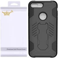 Insten Hard PC/ Silicone Dual Layer Hybrid Rubberized Matte Case Cover with Stand For Apple iPhone 7