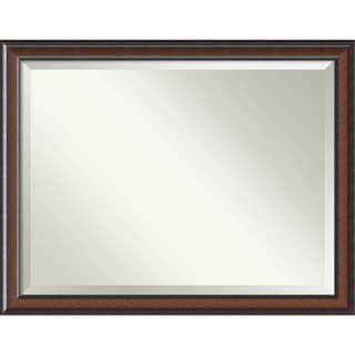 Wall Mirror Oversize Large, Cyprus Walnut 45 x 35-inch - Black/Brown - oversize large - 45 x 35-inch