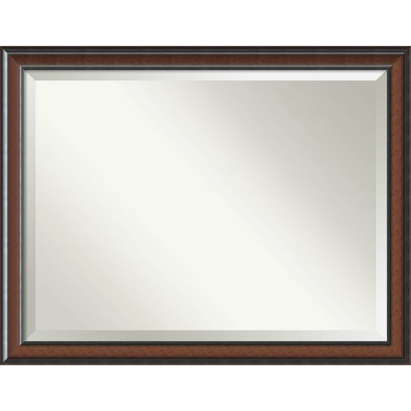 Shop Wall Mirror Oversize Large, Cyprus Walnut 45 x 35-inch