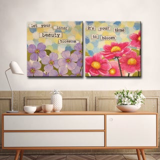 Ready2HangArt 2 Piece Wall Art Set 'Affirmation I/II' by Hope Hansen