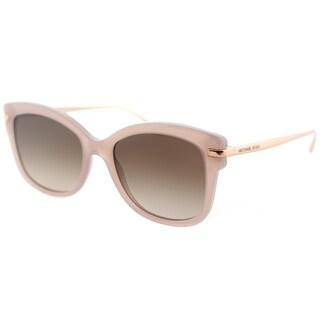Michael Kors MK 2047 324613 Lia Milky Pink Plastic Square Sunglasses Brown Gradient Lens
