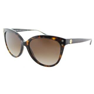 Michael Kors MK 2045 300613 Jan Dark Tortoise Plastic Cat-Eye Sunglasses Brown Gradient Lens