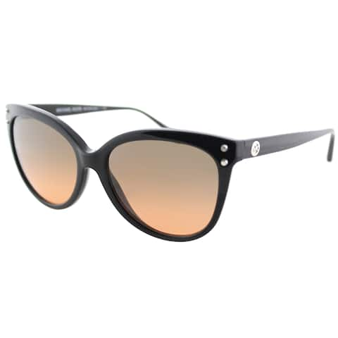 Michael Kors MK 2045 317711 Jan Black Plastic Cat-Eye Sunglasses Brown Gradient Lens
