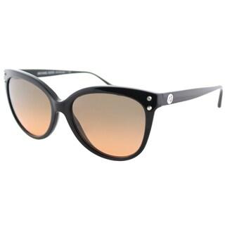 Michael Kors MK 2045 317711 Jan Black Plastic Cat-Eye Sunglasses Brown Gradient Lens