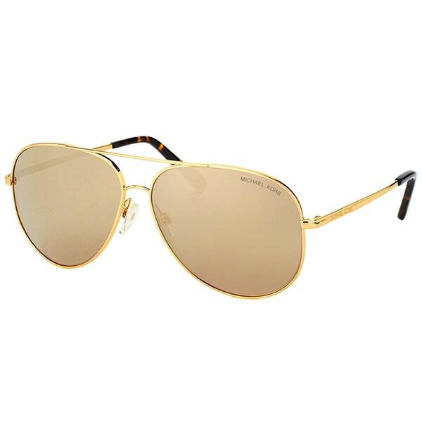 23c5effcb Michael Kors MK 5016 10245A Kendall Gold Tone Metal Aviator Sunglasses  Bronze Mirror Lens