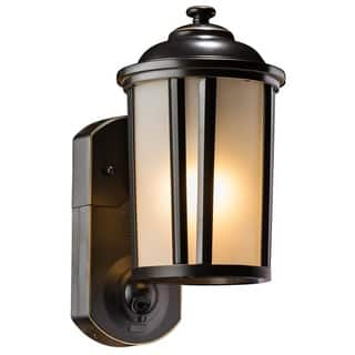 Bronze outdoor lighting for less overstock maximus black oil rubbed bronze finish traditional smart security light workwithnaturefo