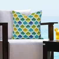 Siscovers Indoor - Outdoor Tide Pool Caribbean Tropical Throw Pillows