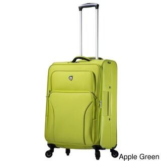 Mia Toro ITALY Elio 24-inch Expandable Spinner Upright Suitcase