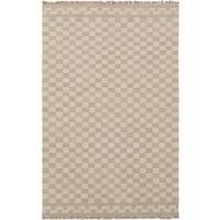 eCarpetGallery Izmir Grey/Ivory Wool Hand-Knotted Kilim Rug - 5'1 x 8'0