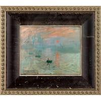 Claude Monet 'Impression, Sunrise' Pre-Framed Miniature Print on Canvas