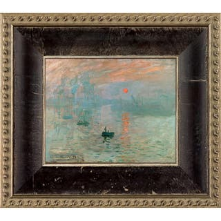 Claude Monet 'Impression, Sunrise' Pre-Framed Miniature Print on Canvas