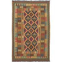 eCarpetGallery Hand-woven Wool Hereke Kilim - 5'2 x 8'5