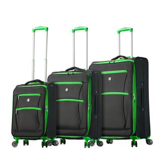 Overstock.com deals on Mia Toro ITALY Piuma 3-piece Expandable Spinner Luggage Set