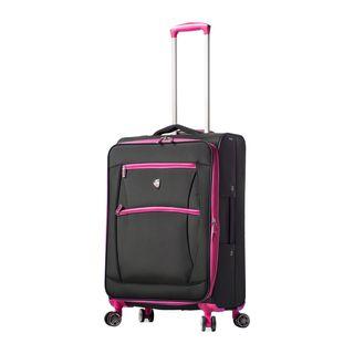 Mia Toro ITALY Piuma 24-inch Expandable Spinner Upright Suitcase